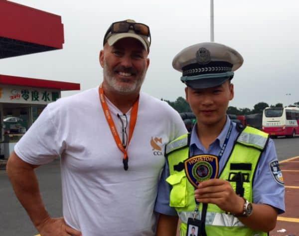 police meet police