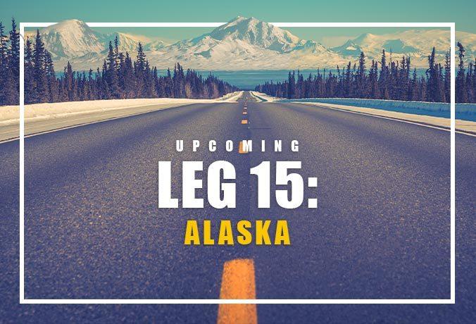 Alaskan Snowy Mountain - Long Road Ahead